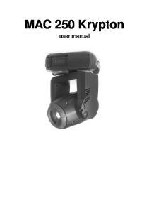 MAC 250 Krypton. user manual