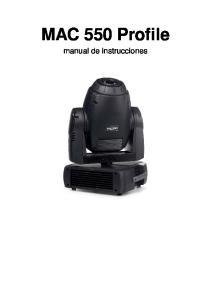 MAC 550 Profile. manual de instrucciones