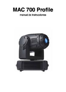 MAC 700 Profile manual de instrucciones