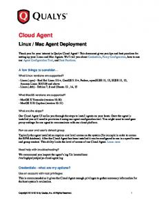 Mac Agent Deployment. A few things to consider. Credentials - what are my options?