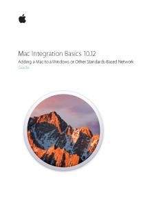 Mac Integration Basics Adding a Mac to a Windows or Other Standards-Based Network Guide