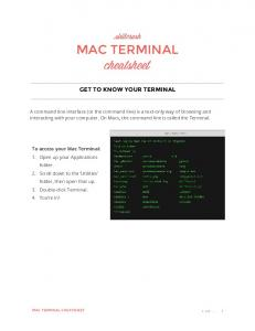 MAC TERMINAL GET TO KNOW YOUR TERMINAL