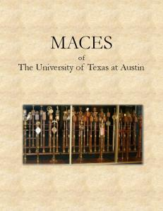 MACES. of The University of Texas at Austin