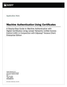 Machine Authentication Using Certificates