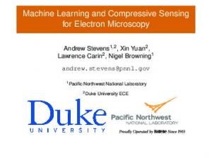Machine Learning and Compressive Sensing for Electron Microscopy