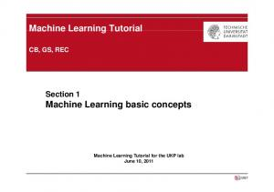 Machine Learning basic concepts