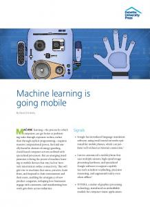 Machine learning is going mobile