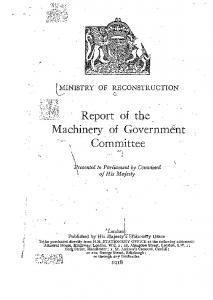 Machinery. of Government. \ Committee