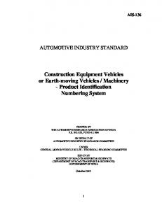 Machinery - Product Identification Numbering System