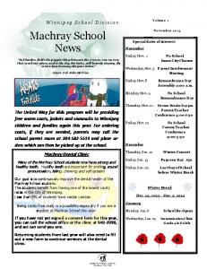 Machray School News. Machray Dental Clinic