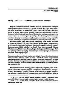 Maciej Junkiert O NORWIDOWSKIM SOKRATESIE