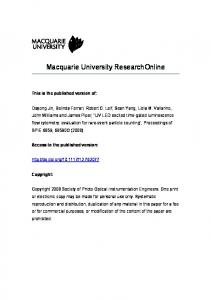 Macquarie University ResearchOnline