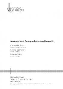 Macroeconomic factors and micro-level bank risk