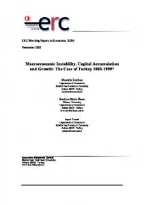 Macroeconomic Instability, Capital Accumulation and Growth: The Case of Turkey *