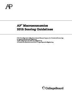 Macroeconomics 2015 Scoring Guidelines