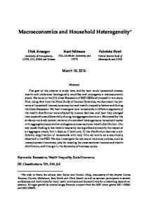 Macroeconomics and Household Heterogeneity