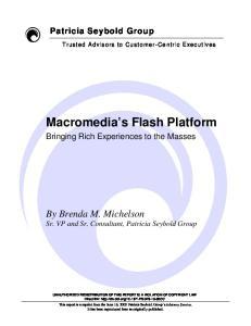 Macromedia s Flash Platform