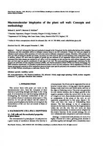 Macromolecular biophysics of the plant cell wall: Concepts and methodology