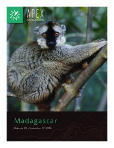 Madagascar October 28 November 12, 2016