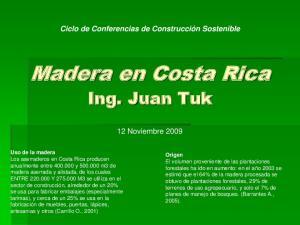 Madera en Costa Rica