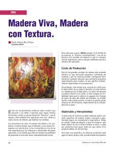 Madera Viva, Madera con Textura