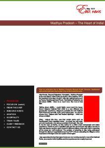 Madhya Pradesh The Heart of India!