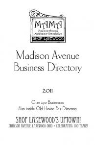 Madison Avenue Business Directory