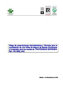 Madrid, 4 de Noviembre de 2.008