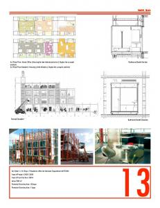 Madrid, Spain. Bathroom Booth Section. Frontal Elevation. Bathroom Booth Elevation