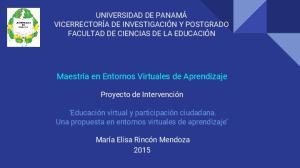 Maestría en Entornos Virtuales de Aprendizaje