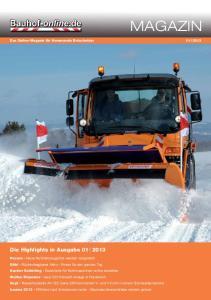 MAGAZIN. Die Highlights in Ausgabe 01 I 2013