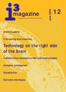 magazine The European Network for Intelligent Information Interfaces Technology on the right side of the brain