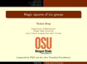 Magic squares of Lie groups