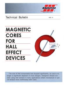 MAGNETIC CORES FOR HALL EFFECT DEVICES