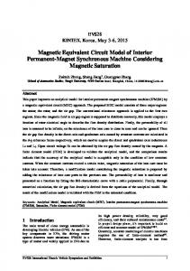 Magnetic Equivalent Circuit Model of Interior Permanent-Magnet Synchronous Machine Considering Magnetic Saturation