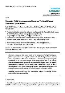 Magnetic Field Measurements Based on Terfenol Coated Photonic Crystal Fibers