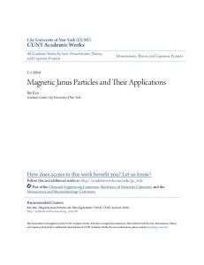 Magnetic Janus Particles and Their Applications