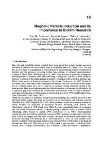 Magnetic Particle Induction and Its Importance in Biofilm Research