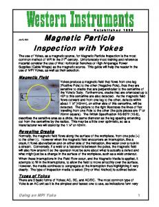 Magnetic Particle Inspection with Yokes