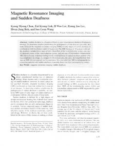 Magnetic Resonance Imaging and Sudden Deafness