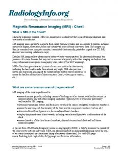 Magnetic Resonance Imaging (MRI) - Chest