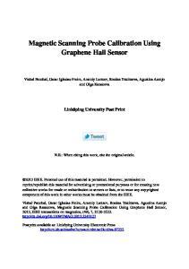 Magnetic Scanning Probe Calibration Using Graphene Hall Sensor