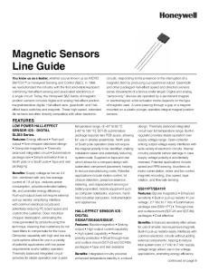 Magnetic Sensors Line Guide