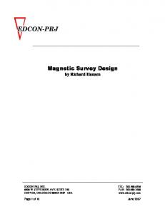 Magnetic Survey Design