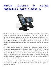 Magnetico para iphone 5