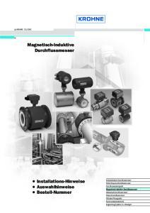Magnetisch-Induktive Durchflussmesser