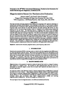 Magnetoresistive Sensors for Nondestructive Evaluation