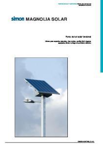 MAGNOLIA SOLAR. Punto de luz solar funcional