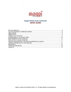 Magpi Mobile Data Collection QUICK GUIDE