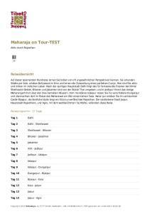 Maharaja on Tour-TEST
